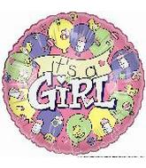 """4"""" Airfill It's a Girl Banner"""
