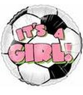 "4"" Airfill It's a Girl Soccer Ball"