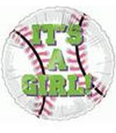 "4"" Airfill It's a Girl Baseball M342"