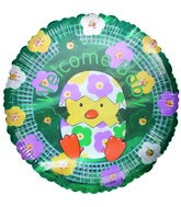 """9"""" Airfill Only Balloon Welcome Baby Chick Floral"""