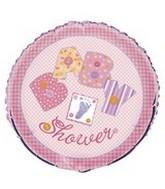 """18"""" Pink Stitching Baby Shower Balloon"""