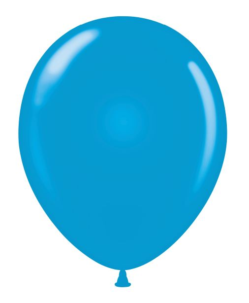 """24"""" Round Blue Latex Balloons 5 Count"""