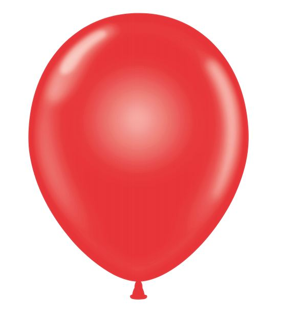 """24"""" Round Red Latex Balloons 5 Count"""