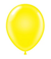 "24"" Round Yellow Latex Balloons 5 Count"