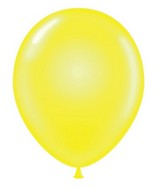 "24"" Round Clear Yellow Latex Balloons 5 Count"