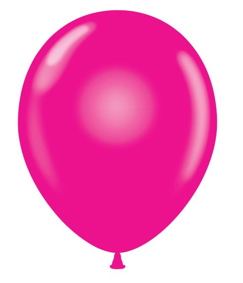 "24"" Round Magenta Latex Balloons 5 Count"