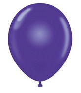 "24"" Round Purple Latex Balloons 5 Count"