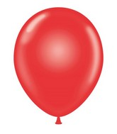 """24"""" Crystal Red Latex Balloons 5 Count"""