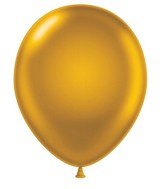 """24"""" Gold Latex Balloons 5 Count"""