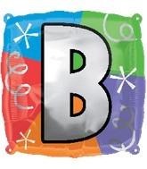 """18"""" Designer  Square Letter Balloon """"B"""""""