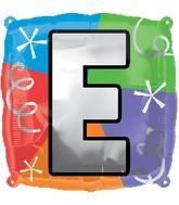 "18"" Designer  Square Letter Balloon ""E"""