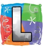 "18"" Designer  Square Letter Balloon ""L"""