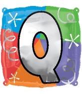 """18"""" Designer  Square Letter Balloon """"Q"""""""