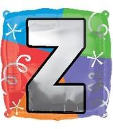 """18"""" Designer  Square Letter Balloon """"Z"""""""