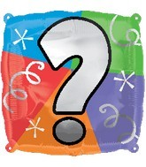 "18"" Designer  Square Question Mark Balloon"