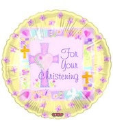"""18"""" For Your Christening Pink"""
