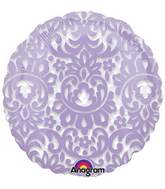 """18"""" See Through Lilac Tapestry Balloon"""