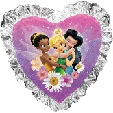 "36"" Tinker Bell And Friend Heart Balloon"