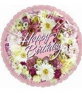 4'' Happy Birthday Wreath of Flowers