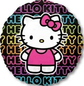 "32"" Jumbo Hello Kitty Tween Black Balloon"