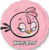 "18"" Pink Angry Birds Mylar Balloon"