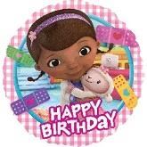 "18"" Doc McStuffins  Happy Birthday Balloon"