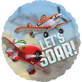 "26"" Disney Planes Let's Soar Clear Balloon"