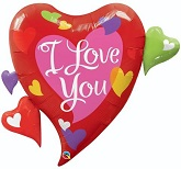 "36"" I Love You Script Modern Jumbo Balloon"