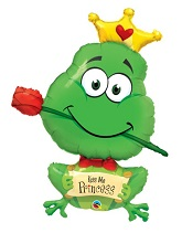 "39"" Frog – Kiss Me Princess Jumbo Balloon"