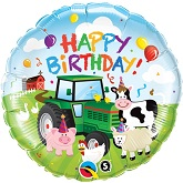 "18"" Birthday Barnyard Packaged Mylar Balloon"