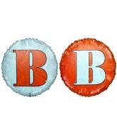 """18"""" Classic Letter Balloon Letter """"B"""" Orange/White"""