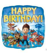 "18"" Paw Patrol Happy Birthday Balloon"