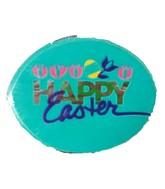 "2"" Happy Easter Tulips/Egg Airfill Balloon"