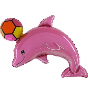 "45"" Dolphin Pink With Ball"