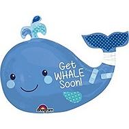 "34"" SuperShape Get Whale Soon Balloon"
