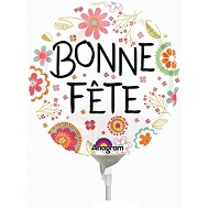 "9"" Airfill Only Bonne Fete Peachy Flower Balloon"