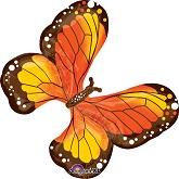 "31"" SuperShape Beautiful Monarch Butterfly Balloon"