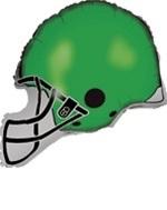 "30"" Green Football Balloon Helmet"