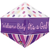 "21"" Ultrashape Anglez Welcome Baby Girl Balloon"