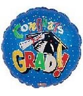 "4"" Airfill Blue Grad Hat & Diploma"