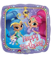 "18"" Happy Birthday Shimmer and Shine Balloon"