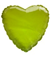 "9"" Airfill Only Transparent Yellow Heart Shaped Balloon"