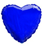 """9"""" Airfill Only Transparent Royal Blue Heart Shaped Balloon"""