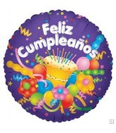 "9"" Airfill Feliz Cumpleanos Cake"