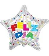 """4"""" Airfill Feliz Dia Letras Balloon"""