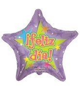 "4"" Airfill Feliz Dia Purple Balloon"