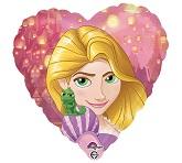"""18"""" Rapunzel Heart Foil Balloon Packaged"""