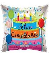"""9"""" Airfill Only Feliz Cumpleanos Balloon"""