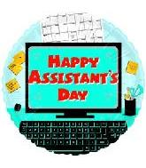 "18"" Happy Assistants Day Desk"