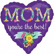 "28"" Jumbo Floral MOM Balloon"